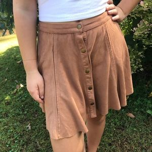 Faux Suede Skirt